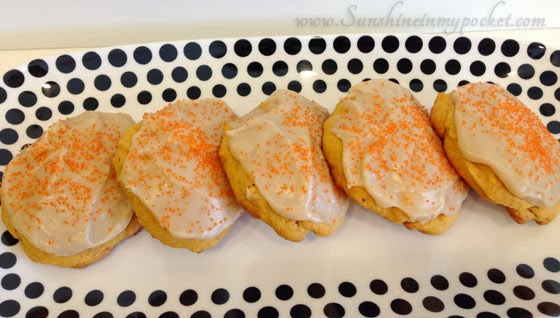 Caramel Frosted Pumpkin Cookies by Sunshine in my Pocket