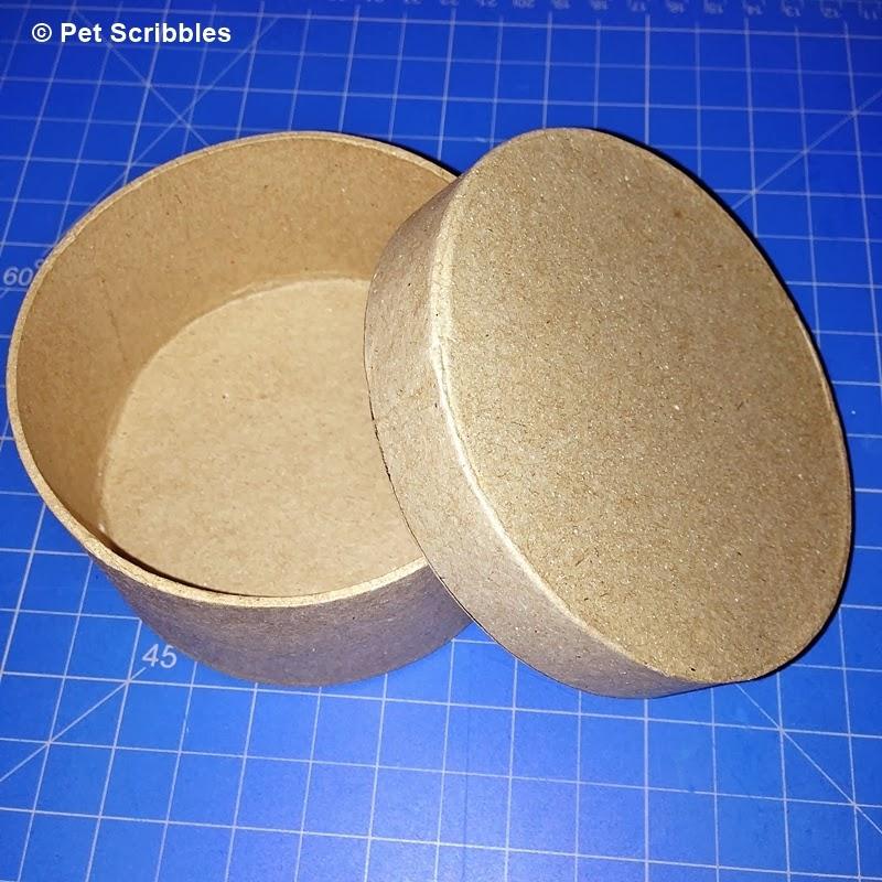 round paper mache box