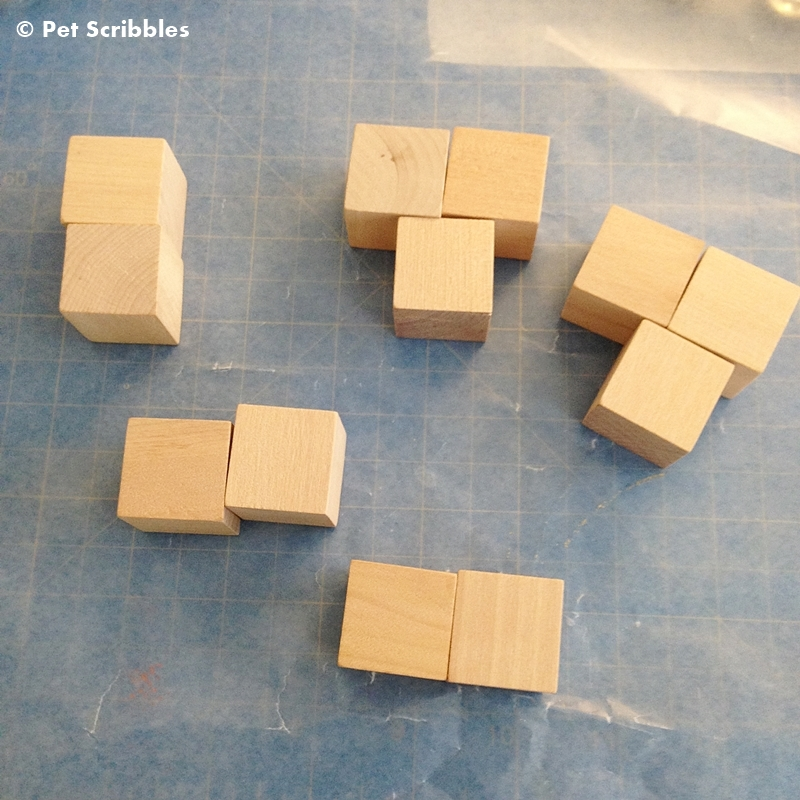 Check your unfinished wood blocks for any rough edges and sand those down.