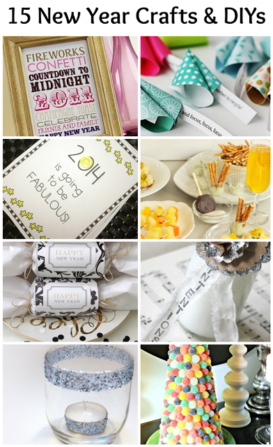 15 New Year Crafts & DIYs for New Year's Eve and New Year's Day!
