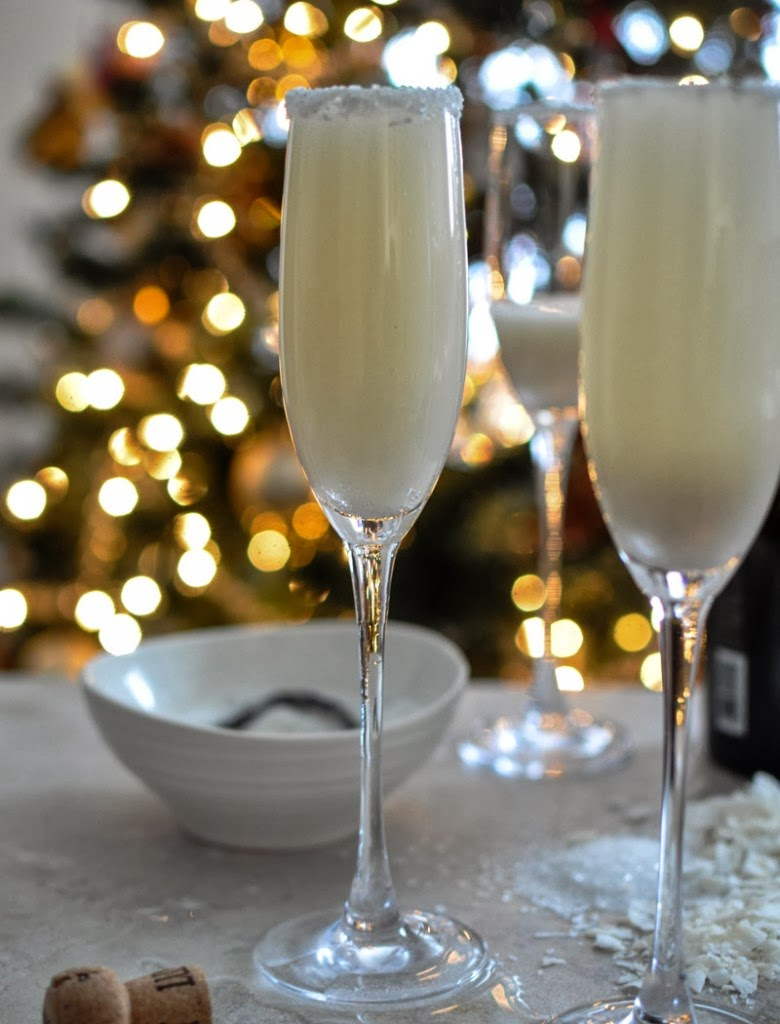 Coconut Vanilla Bellinis Recipe by How Sweet It Is