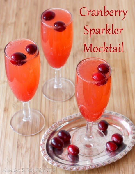 Cranberry Sparkler Mocktail Recipe by Cupcakes and Kale Chips