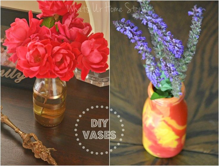 DIY Vases from Old Bottles - What's Ur Home Story