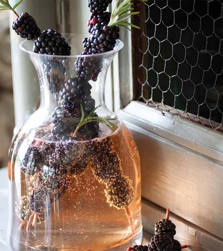 Blackberry Fizz Holiday Drink Recipe by Red Barn