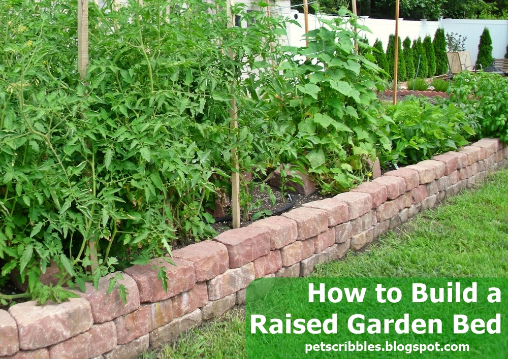 DIY Raised Garden Bed using Paver Stones