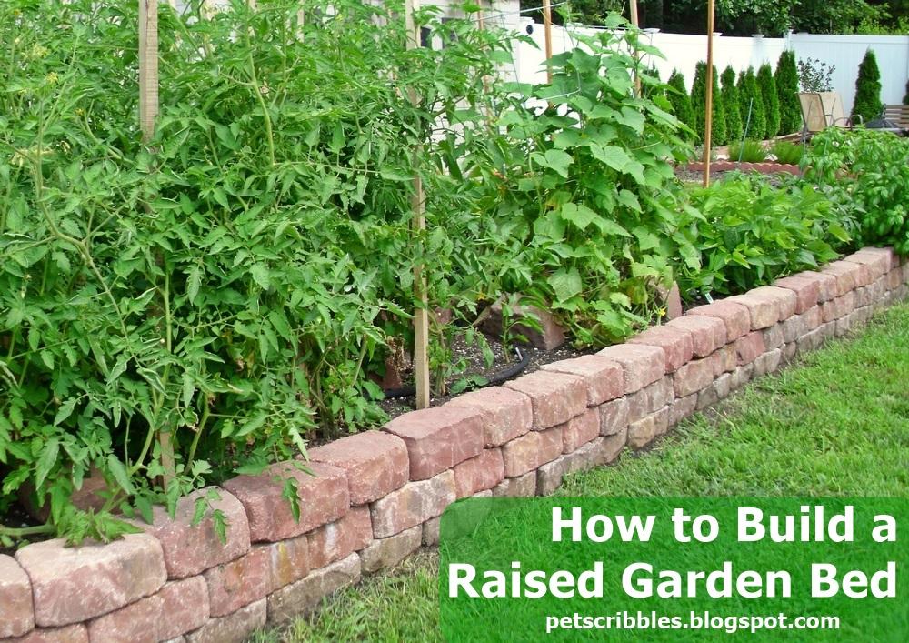 DIY Raised Garden Bed using Paver Stones