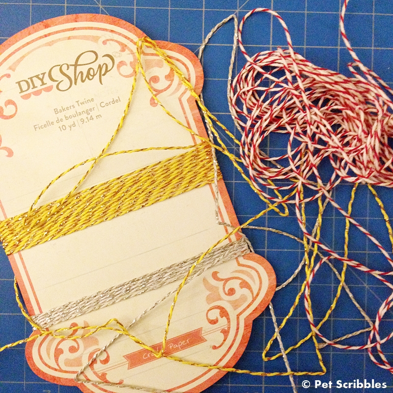 Tie up miniature Christmas presents with baker's twine!