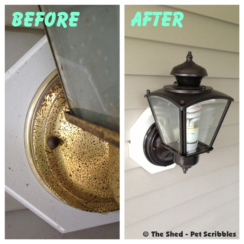 Ugly Light Fixture Makeover