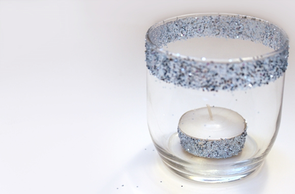 DIY Easy Glitter Candle Holders by Creative Green Living