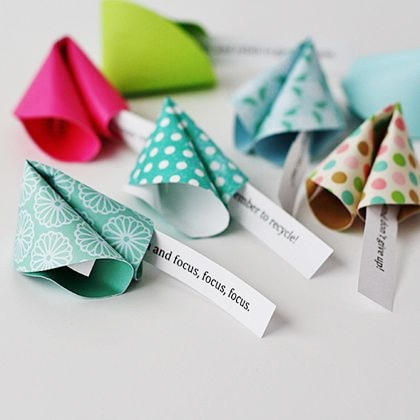 New Year Paper Fortune Cookies by Amanda Formaro for Spoonful.com