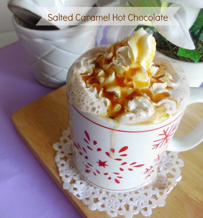 Salted Caramel Hot Chocolate Recipe by Pink Recipe Box