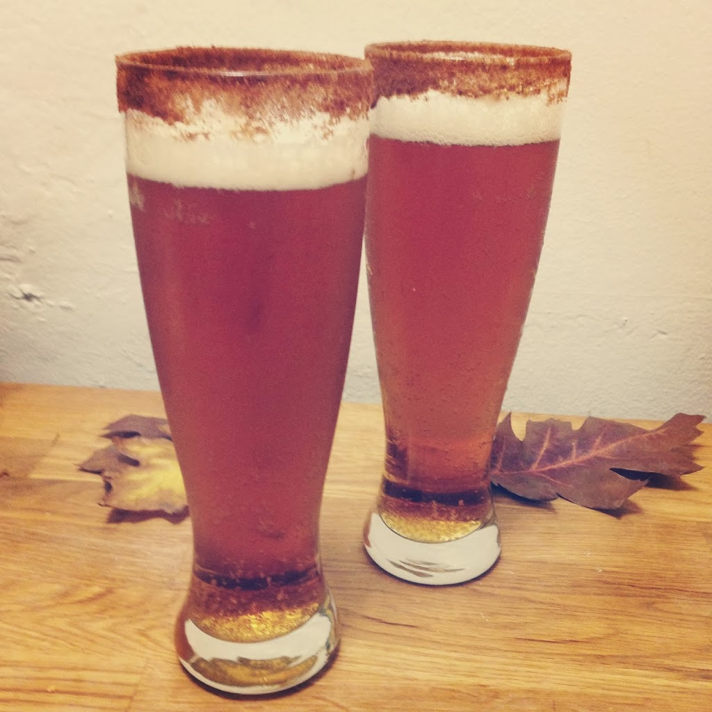 Cinnamon Brown Sugar Recipe for Beer Glass Rims to enjoy seasonal beers, by Crafty Lumberjacks