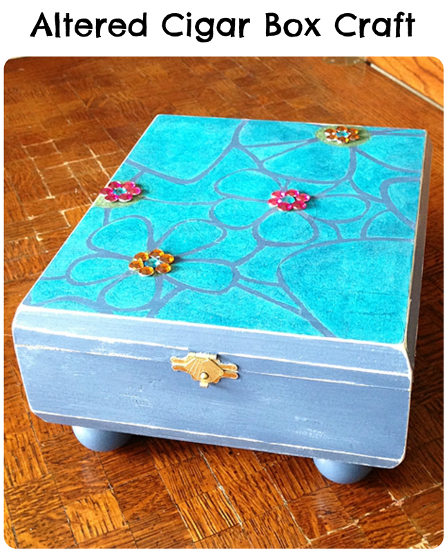Altered cigar box craft pet scribbles for Cigar boxes for crafts