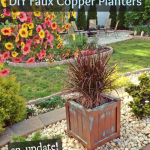 DIY Faux Copper Patina Planters: an update!