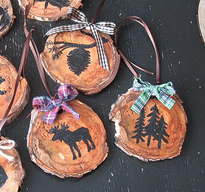 Rustic North Woods Ornaments from Crafts by Amanda