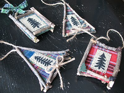 DIY Rustic North Woods Ornaments from Crafts by Amanda