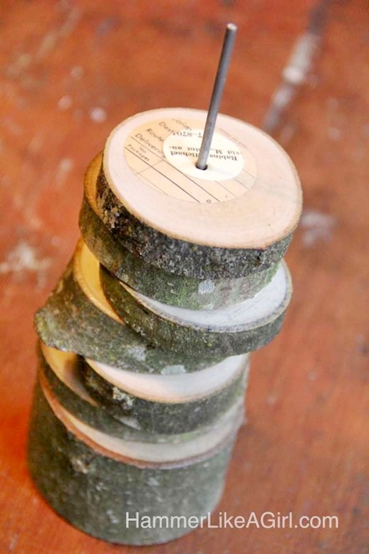 Tree Branch Coasters DIY by Hammer Like a Girl for Mod Podge Rocks