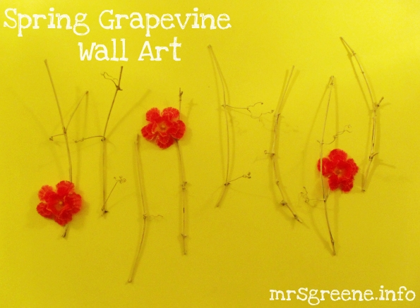 Spring Grapevine Wall Art DIY by Mrs. Greene