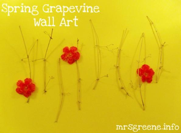 Spring Grapevine Wall Art DIY by Mrs. Greene
