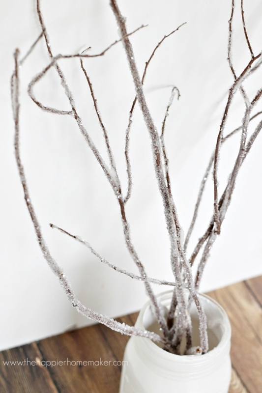 DIY Iced Branches by The Happier Homemaker