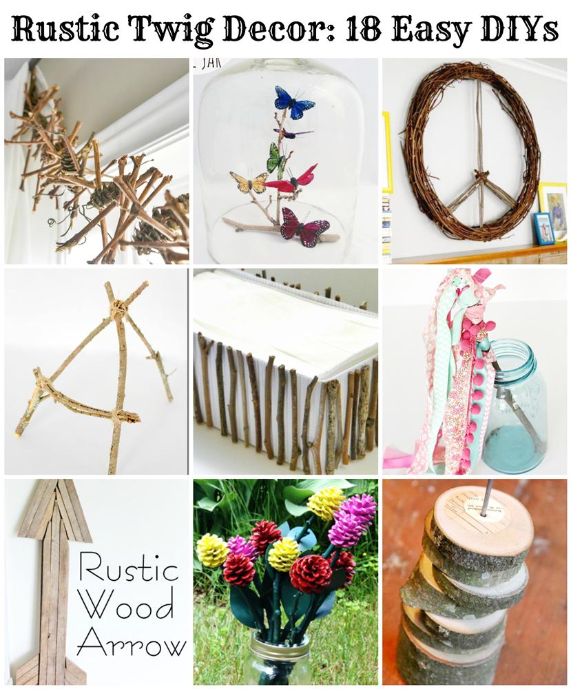 Rustic Twig Decor 18 Easy Diys Pet Scribbles