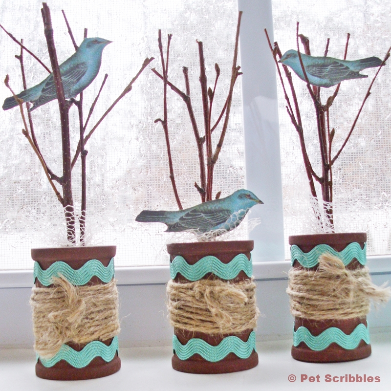Spring Twigs and Spools Craft by Pet Scribbles