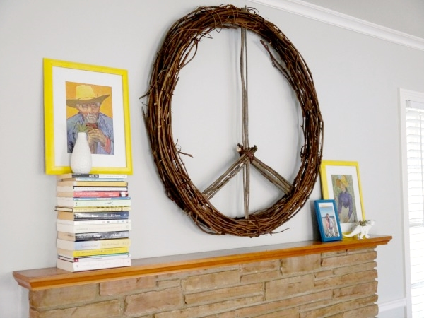 CB2 Inspired Peace Wreath DIY by C.R.A.F.T.