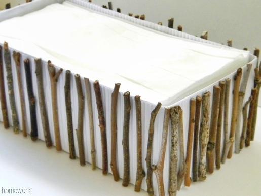 Twig Tissue Box DIY by Homework