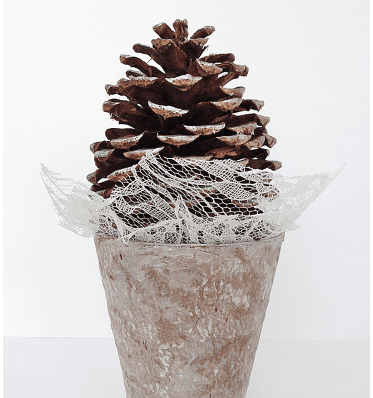 Winter Pinecone Tree Craft