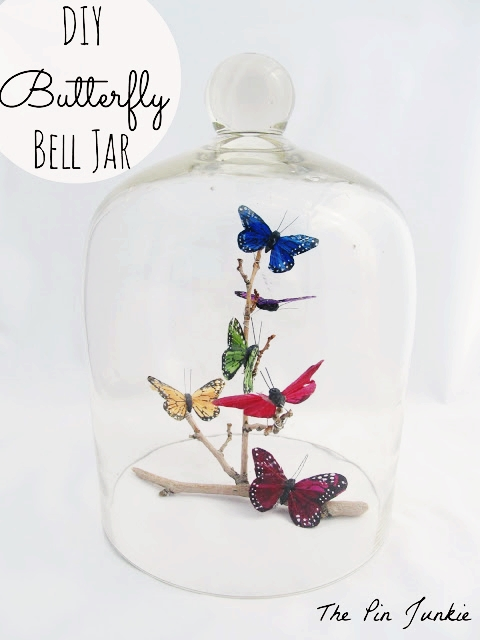 DIY Butterfly Bell Jar by The Pin Junkie