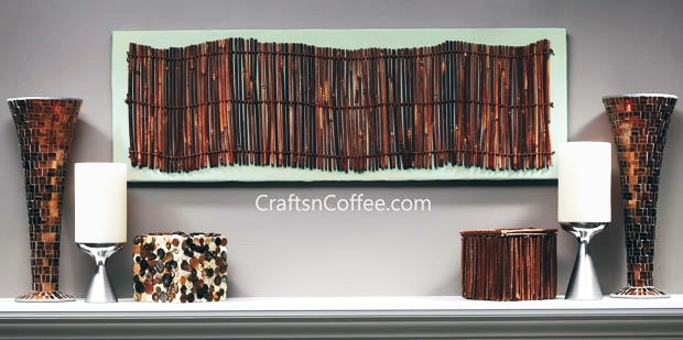 Twig Wall Art DIY by Crafts 'n Coffee