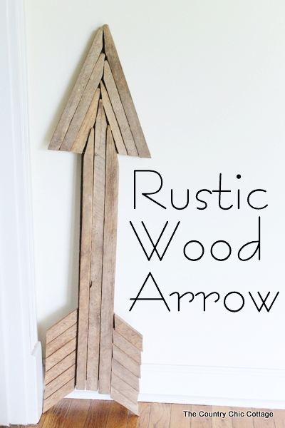 Rustic Wood Arrow DIY by The Country Chic Cottage