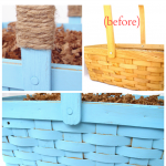 Chalky Finish Painted Basket – An Easy Makeover!