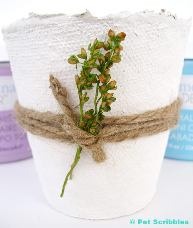 White Peat Pot Wedding Favor