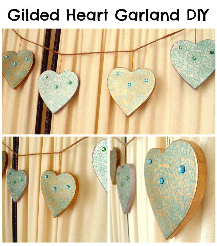 DIY Heart Garland: perfect for weddings or Valentine's Day!