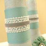 Layering Ribbons on a Vase