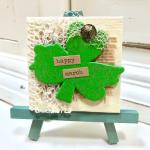 St. Patrick's Day craft: Shamrock Miniature Art Canvas