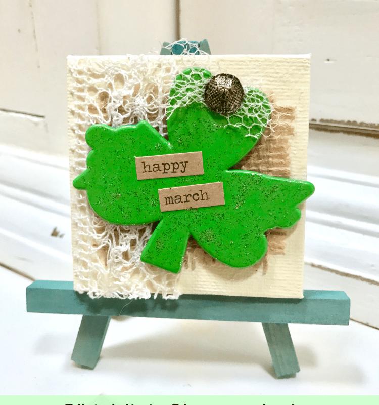 Miniature Shamrock Art for St. Patrick's Day!