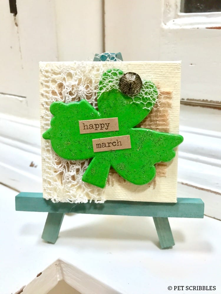 Miniature Shamrock Art for St. Patrick's Day!
