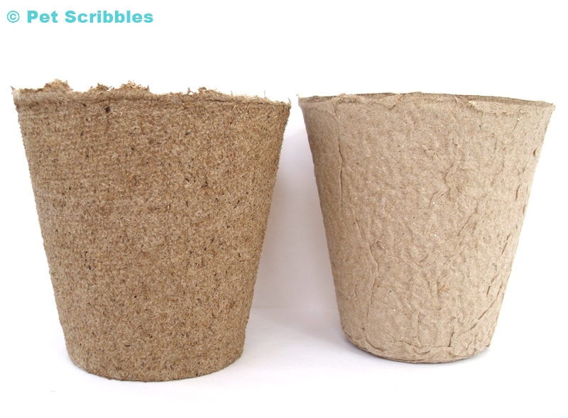 Two examples of peat pots used by gardeners, but also used more and more by crafters!