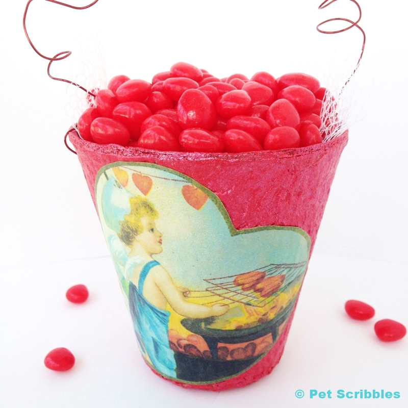 Red Hot Valentine Container Tutorial
