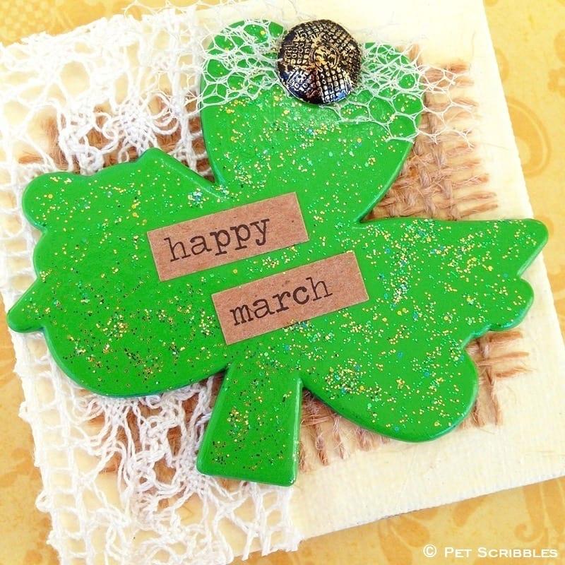 Shamrock Miniature Art DIY for St. Patrick's Day