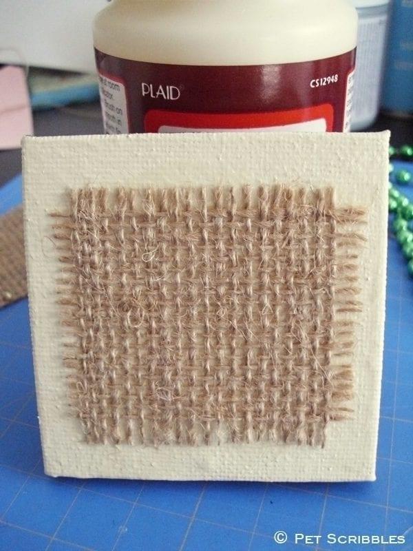 Shamrock Miniature Art DIY - mini canvas and burlap