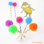 Dr. Seuss Craft: Truffula Tree Cupcake Toppers