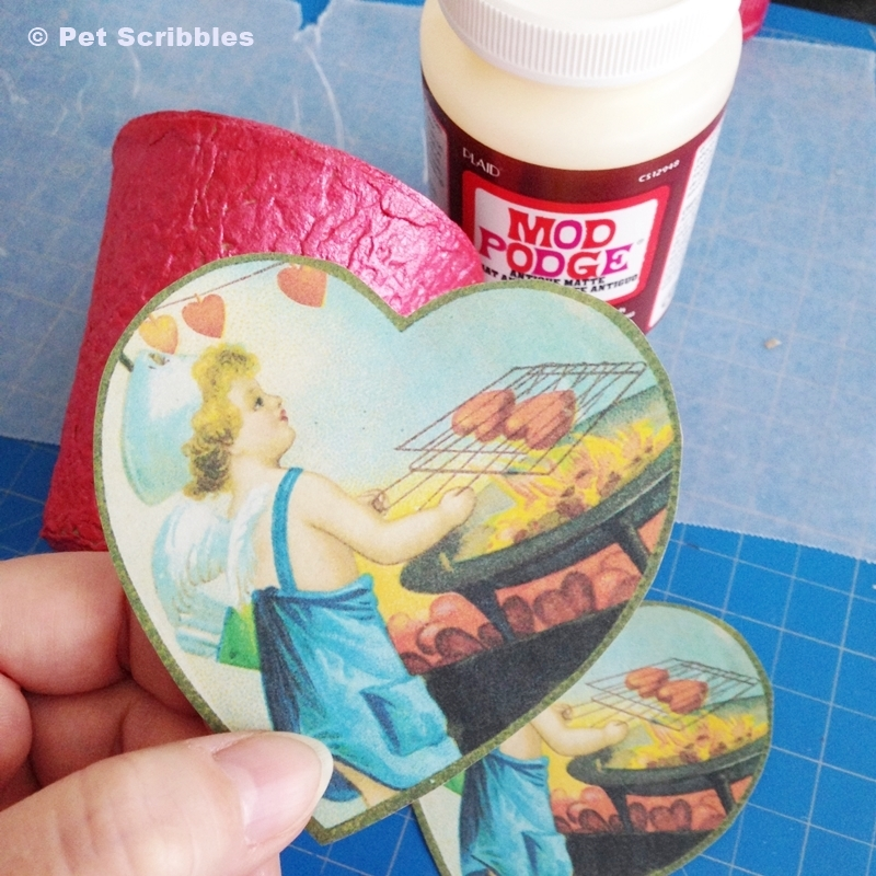 Valentine Container DIY - vintage image