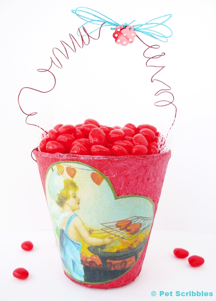Vintage-Style Valentine Container