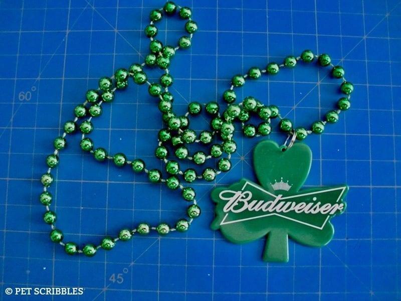promotional shamrock necklace