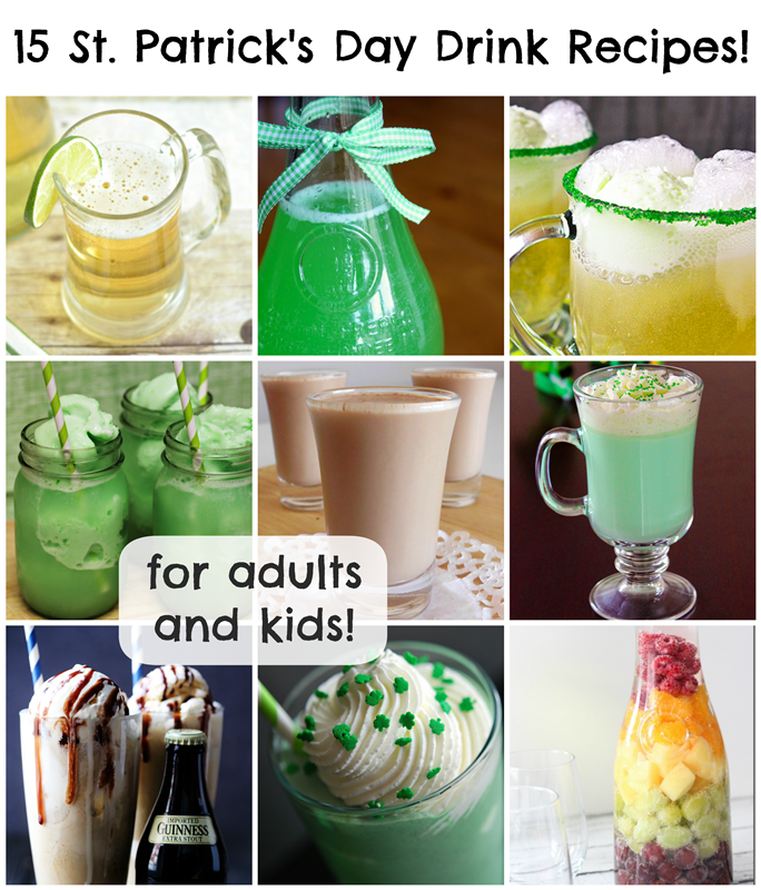15 St. Patrick's Day Drink Recipes for Adults and Kids!