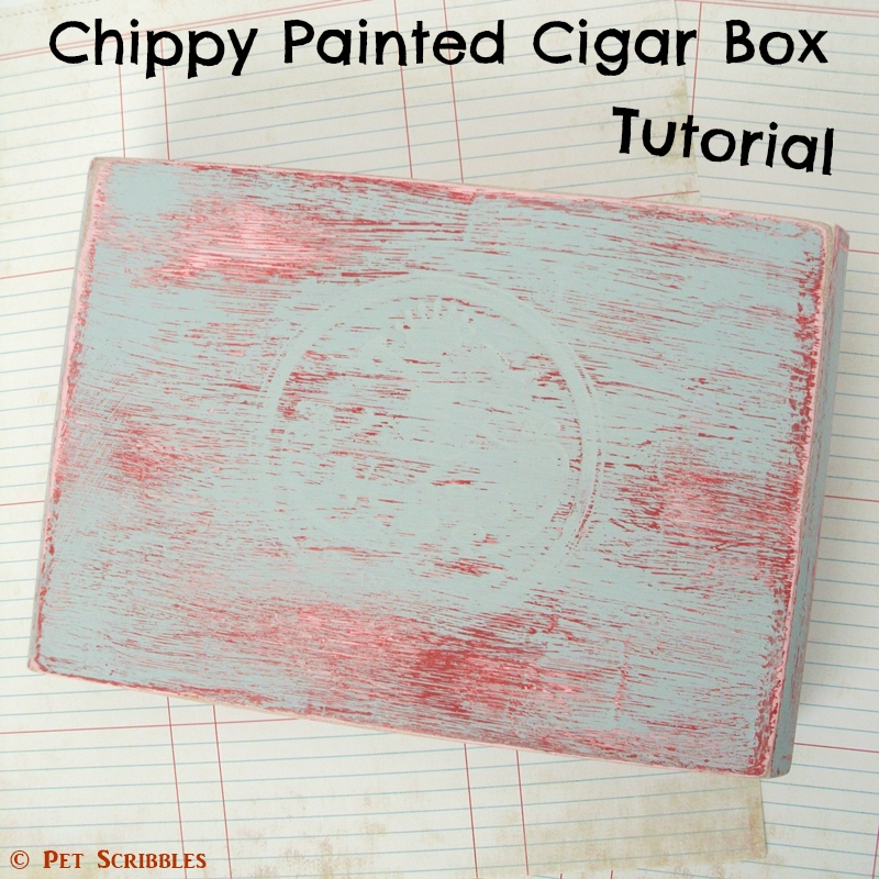 Chippy Paint Altered Cigar Box: Easily create a time-worn paint finish with this step-by-step tutorial!