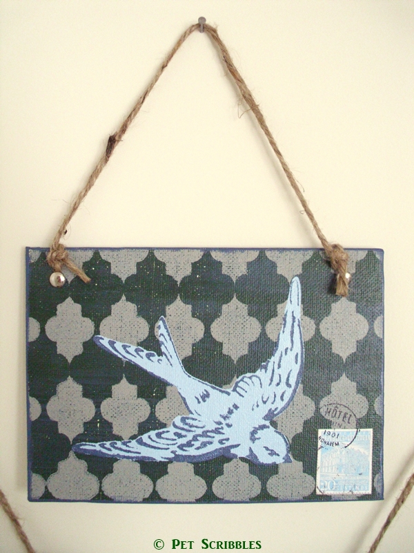 Put a bird on it! Layered Stencil Art Wall Decor DIY